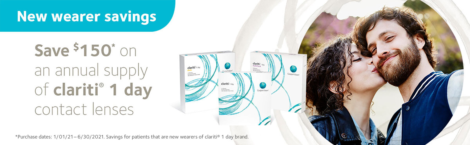 Save $150 on your clariti 1 day contact lenses