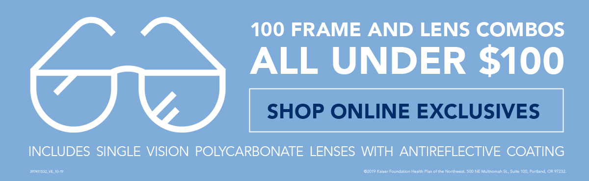 100 Frame and Lens Combos Under $100