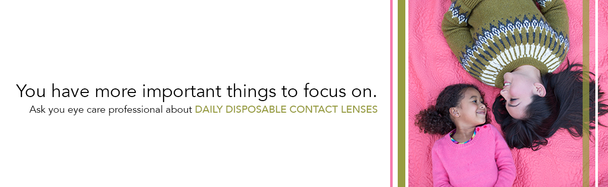 You have more important things to focus on.  Ask your eyecare professional about Daily disposable contact lenses.