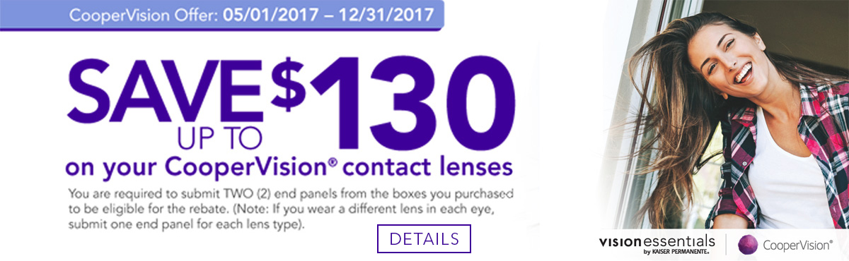 CooperVision save up to $130
