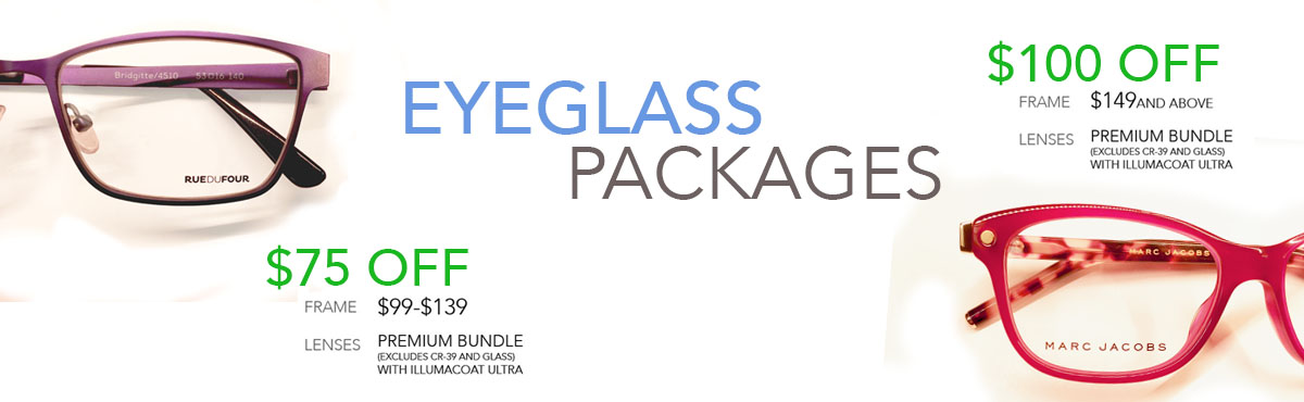 Eye Glass packages on sale
